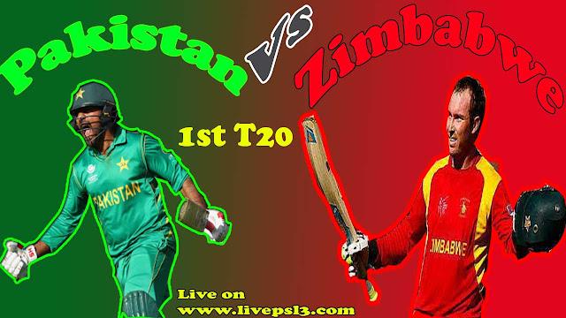 Live Pak Vs Zim 1st t20 tri series
