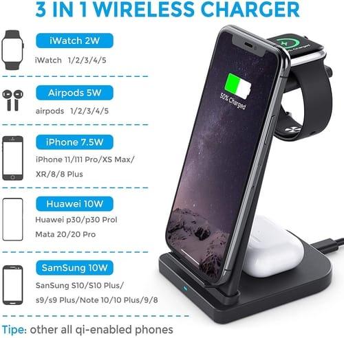 iKALULA Detachable Fast Wireless Charging Station Dock