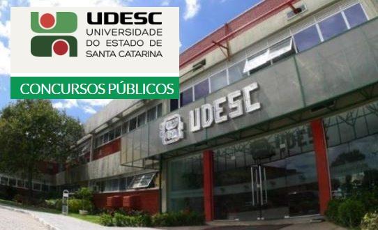 Udesc edital Concurso para 14 vagas de nível médio