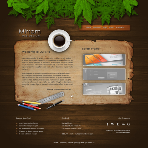 Designing A Creative Portfolio Web In Photoshop