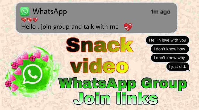 Snack video WhatsApp group link : join 1000+ snack groups