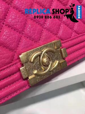 Túi xách Chanel Boy Màu Hồng Đậm