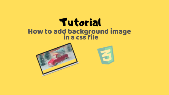 How to add background image in a css file