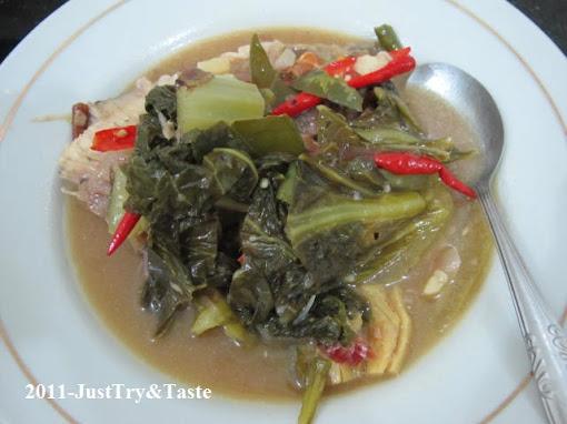 Resep Sup Ikan Gurame dan Sawi Asin