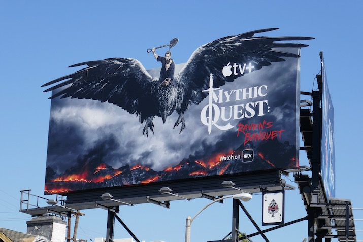 Mythic Quest Ravens Banquet extension billboard
