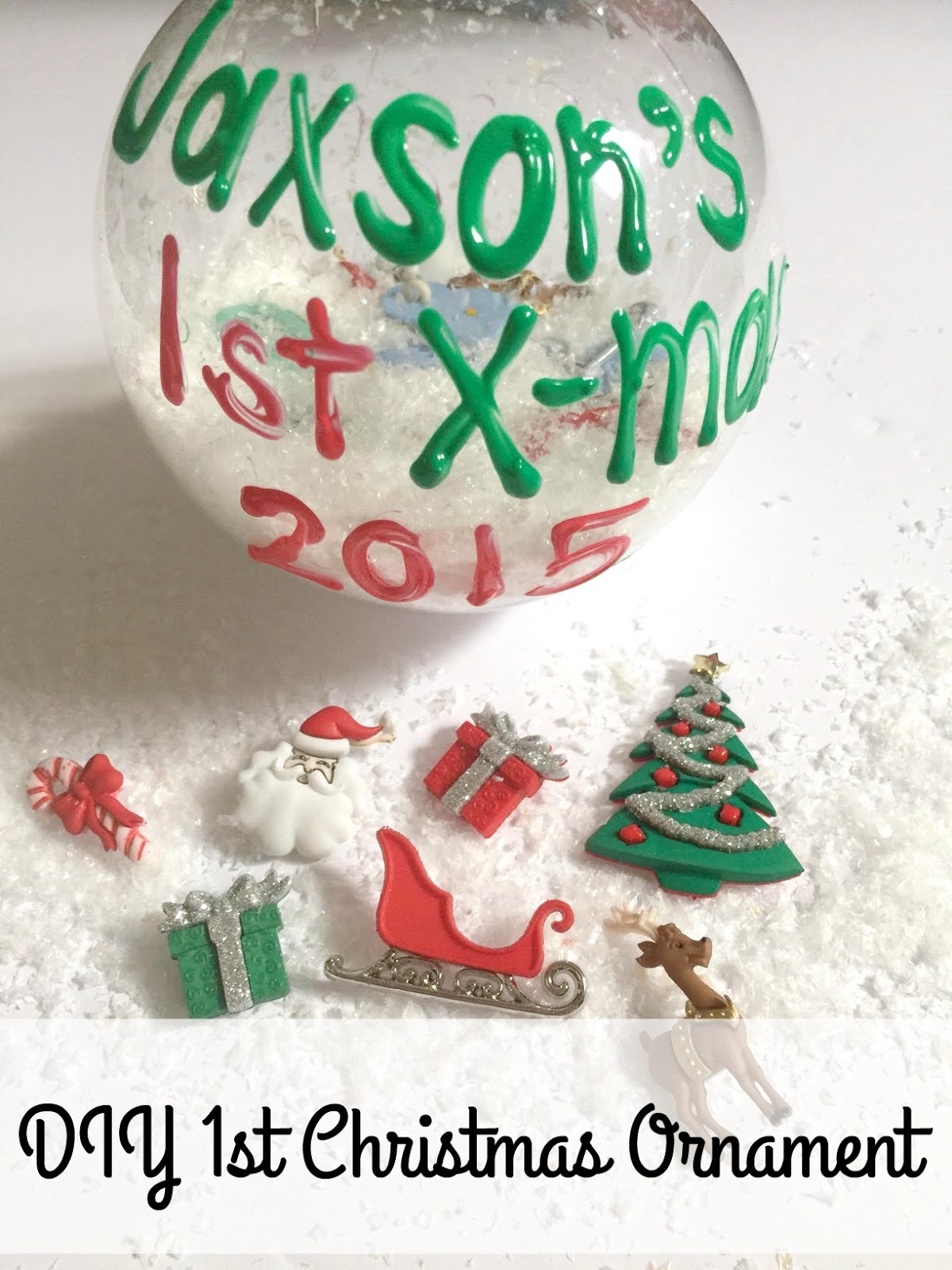 Life With 4 Boys: DIY Baby's First Christmas Ornament #Craft