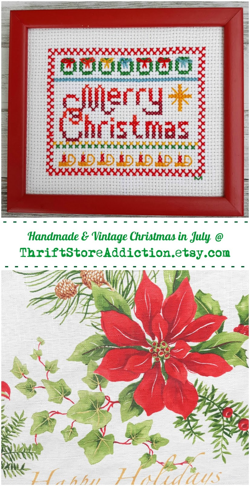 vintage and handmade Christmas in July