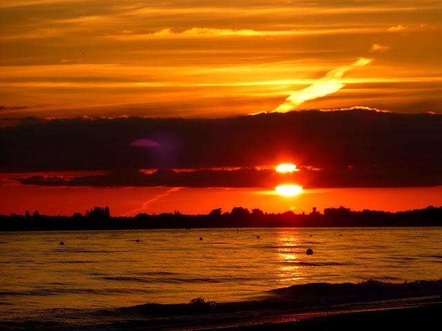 Coucher de soleil sur Damgan, vu de Kervoyal