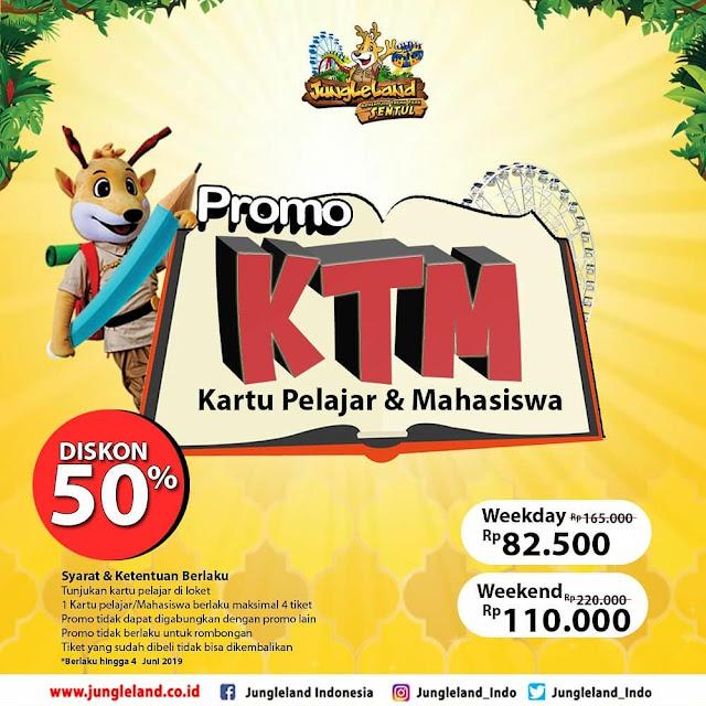 #JungleLand - #Promo Diskon 50% Pakai Kartu Pelajar & Mahasiswa (s.d 04 Juni 2019)