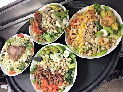 JB Hook's, Lake of the Ozarks, Cobb salads