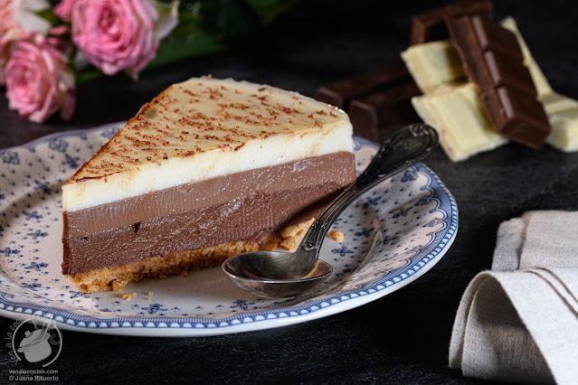 Tarta de los tres chocolates