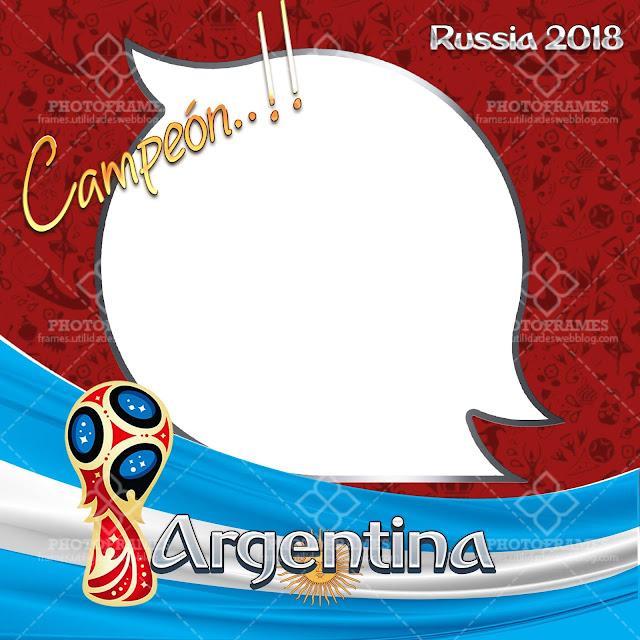 Marco para fotos Argentina Campeón del mundial Rusia 2018