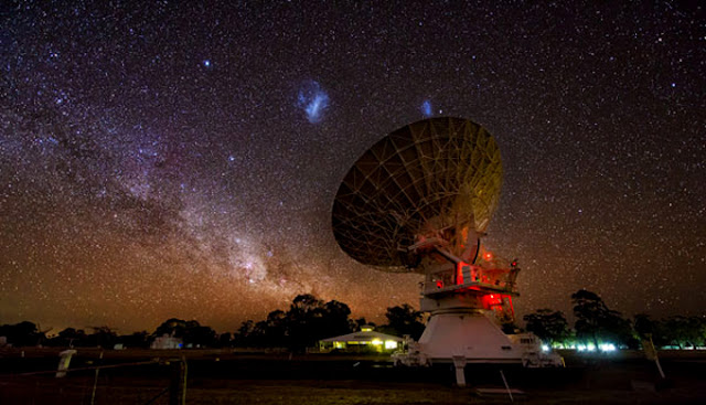 Nuvens de Magalhães e Observatório Australian Telescope Compact Array