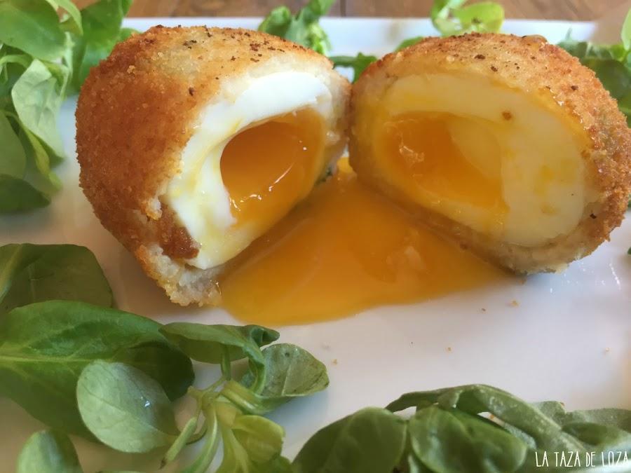 Huevos-escoceses-de-yema-líquida