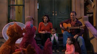Telly, Baby Bear, Maria and Luis, Sesame Street Episode 4410 Firefly Show season 44
