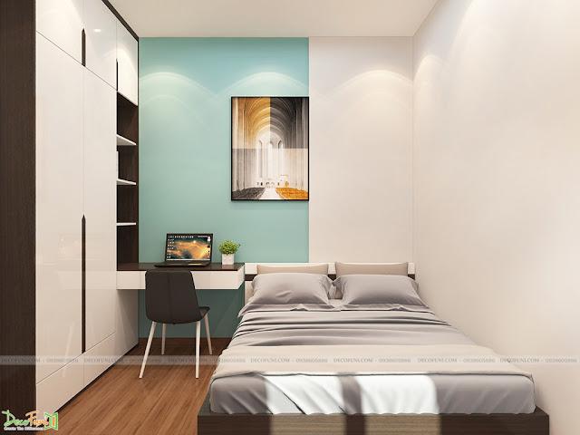 Thiết kế và thi công hoàn thiện nội thất căn hộ chung cư Kingsway Tower - Phòng Ngủ