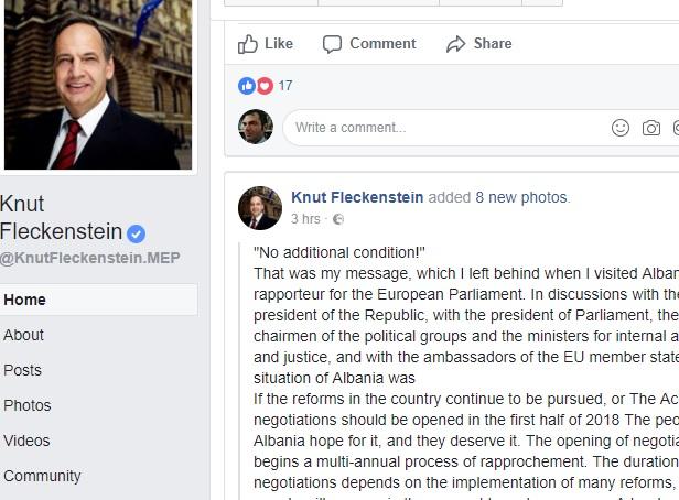 FleckensteinFacebook status screenshot