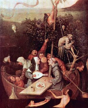 """Hieronymus Bosch  """"Ahmaklar Gemisi"""""""