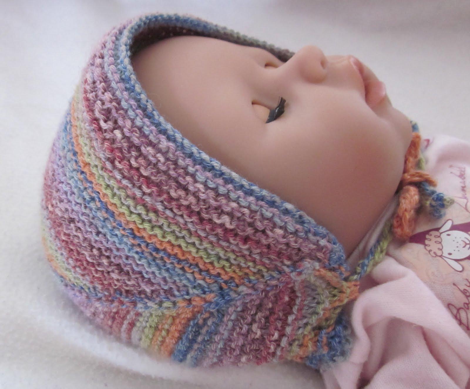 süße babymützen stricken