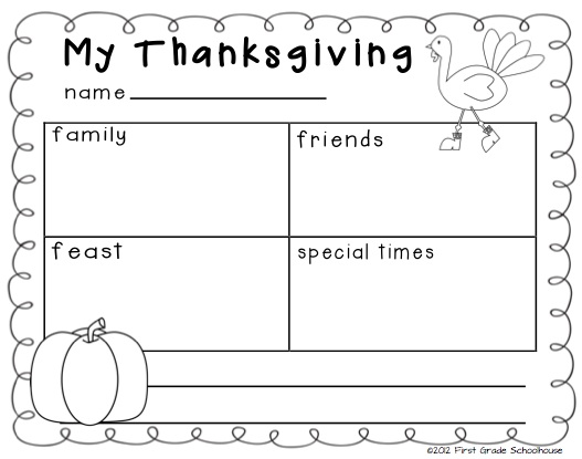 Free Printable Writing Activities For First Grade