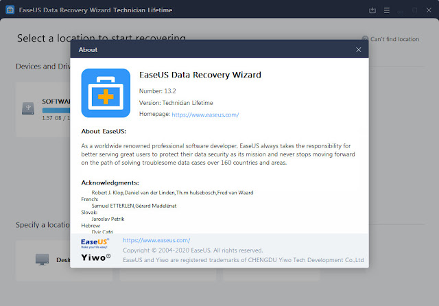 Screenshot EaseUS Data Recovery Wizard 13.2 Full Version
