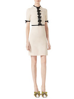 Gucci bow dress 2017 Saks