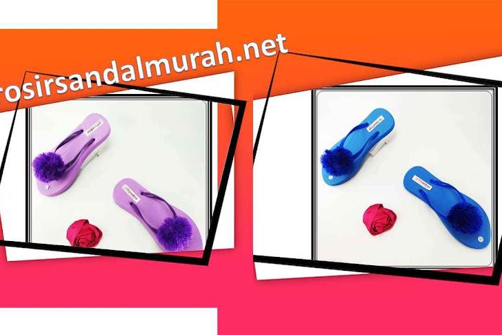 Grosir Sandal Murah || AB Rai Teplek Pompom DWS