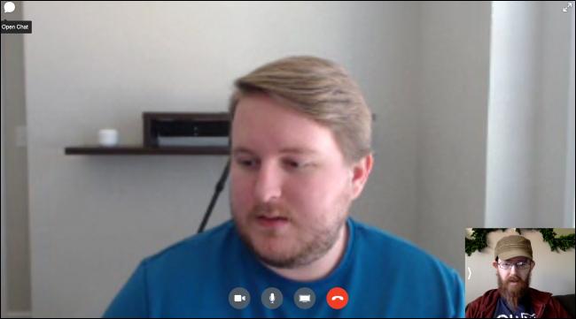 Facebook Messenger سطح المكتب دردشة الفيديو واجهة