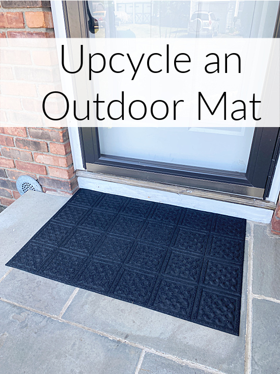 outdoor mat with overlay