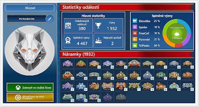 Microsoft Solitaire Windows 10 - Statistiky Událostí