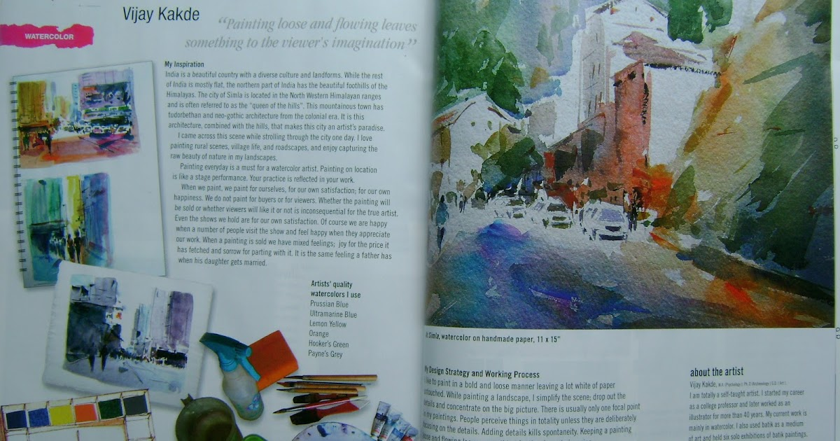 Watercolor My Landscape Published In International Artist Aug Sept