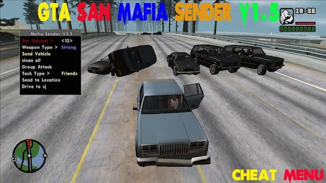 GTA San Andreas Mafia Sender V1.5 Cheat Menu