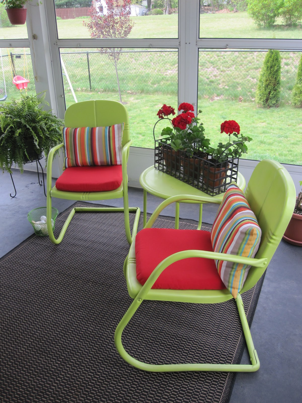 green lawn chairs chair stand test results tdb house tour porch
