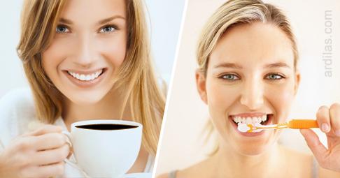 Tips Cara Alami Menghindari Memutihkan Gigi Kuning Kopi