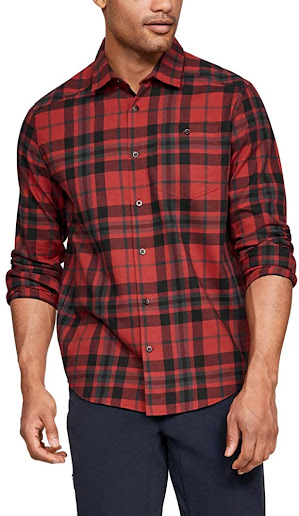 Red Plaid Flannel Shirts For Men