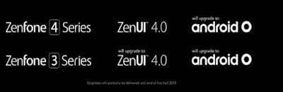 Asus ZenFone 3 and ZenFone 4 series to get Android O update
