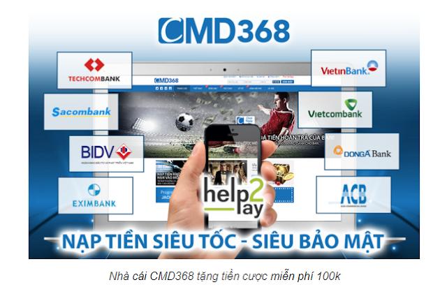 nhà cái CMD tặng 50k tiền cược miễn phí