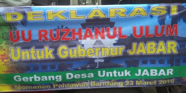 Baru 15 Menit Dilantik, Bupati Tasikmalaya Deklarasikan Maju Pilgub Jabar!