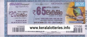 Kerala lottery result of Akshaya _AK-104 on 18 September  2013