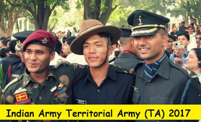 Indian Army Territorial Army (TA) Notification 2017 - 2018
