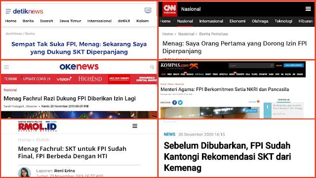 HNW Duga Fachrul Razi Dicopot dari Menag gegara Mau Perjuangkan SKT FPI