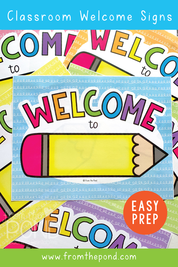 Classroom Welcome Sign - Teachers Printables