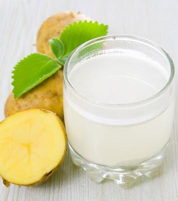 Potato juice haircare treatment