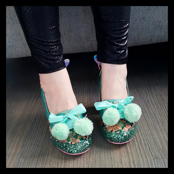 wearing irregular choice snuggle bunnie front shoes