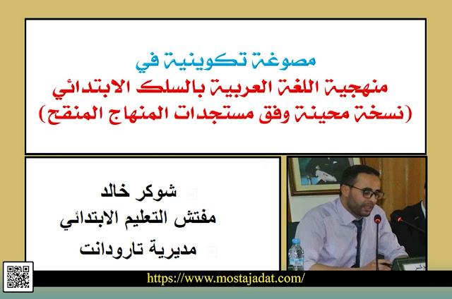 منهجية تدريس ديداكتيك اللغة العربية بالسلك الابتدائي وفق مستجدات المنهاج المنقح -يوليوز 2020