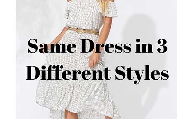 How to Wear the Same Dress in 3 Different Styles