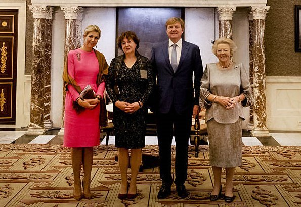 Princess Beatrix, Sociology Professor Michèle Lamont. Refugee Company. Queen Maxima wore pink dress