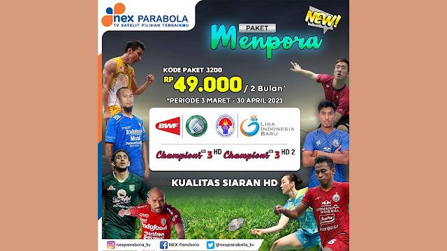 Cara Membeli Paket Piala Menpora di NEX Parabola