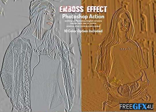 Emboss Effect Photoshop Action