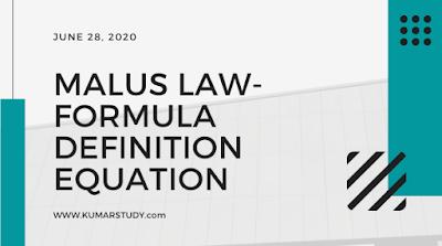Malus law- Formula, Definition, Equation